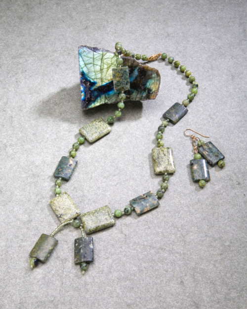 Russian Serpentine, British Columbia Jade and Aventurine