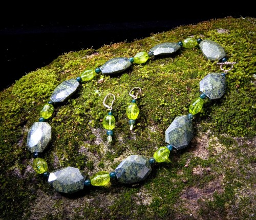 Russian Serpentine, Peridot Crystal and British Columbian Jade