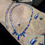 Sterling and Chrysacola Jewelry
